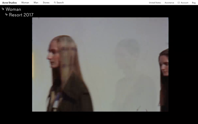 Screenshot of Acne Studios