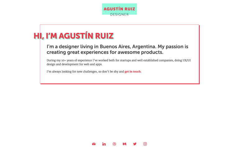 Screenshot of Agustín Ruiz