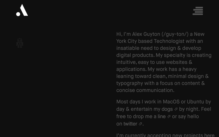 Screenshot of Alex Guyton