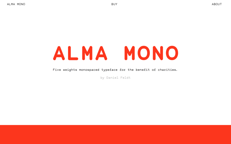 Screenshot of Alma Mono
