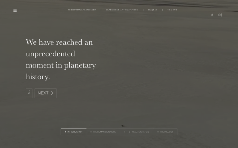 Screenshot of Anthropocene
