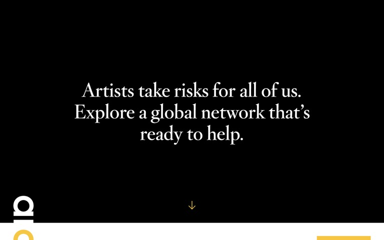 Screenshot of Artists at Risk Connection