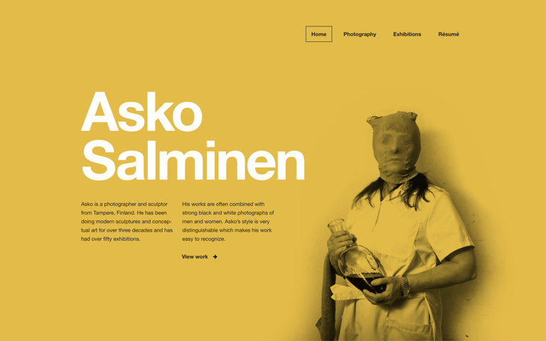 Screenshot of Asko Salminen