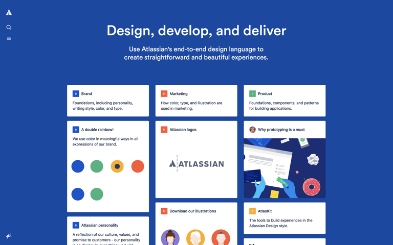 Screenshot of Atlassian Design
