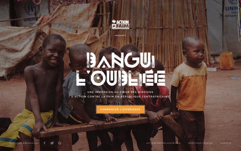 Screenshot of Bangui l'oubliée