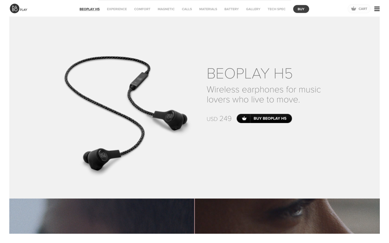Screenshot of Beoplay H5