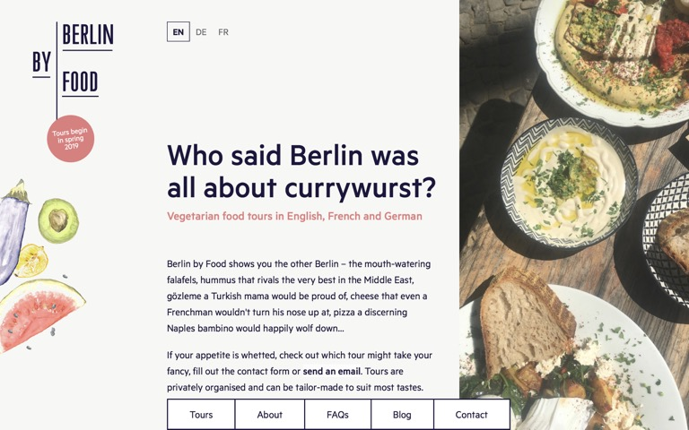 Screenshot of Berlin by Food