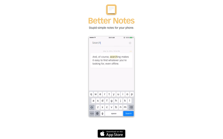 Screenshot of Better Notes