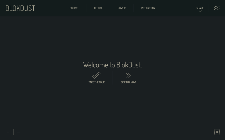 Screenshot of BlokDust