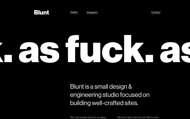 Screenshot of Blunt