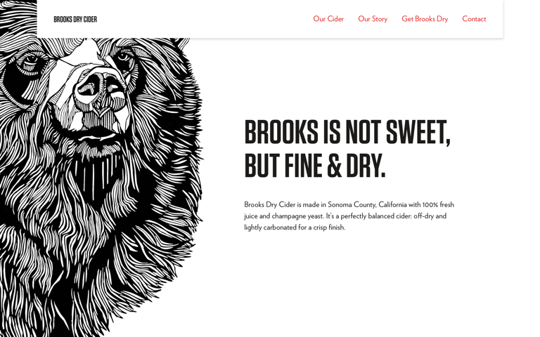 Screenshot of Brooks Dry Cider