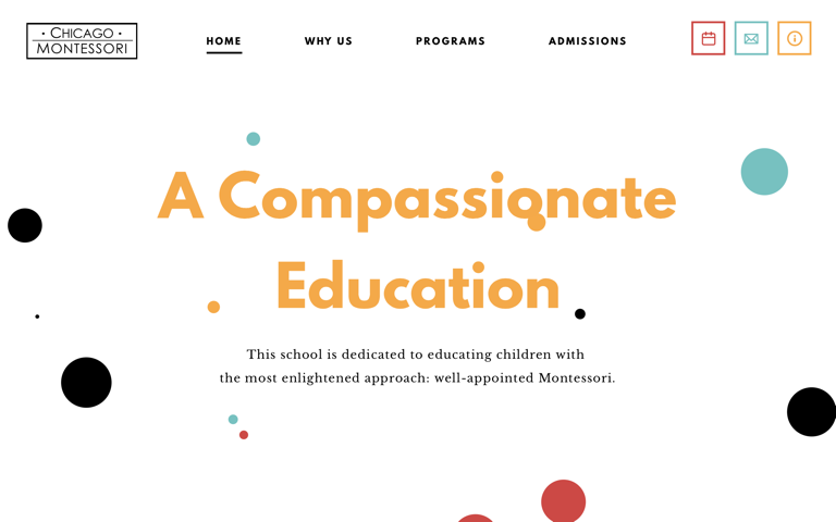 Screenshot of Chicago Montessori