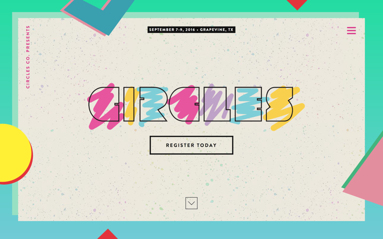 Screenshot of Circles Conference