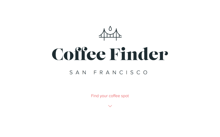 Screenshot of Coffee Finder SF