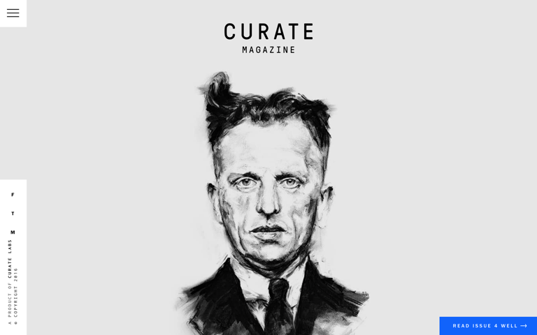 Screenshot of Curate Magazine