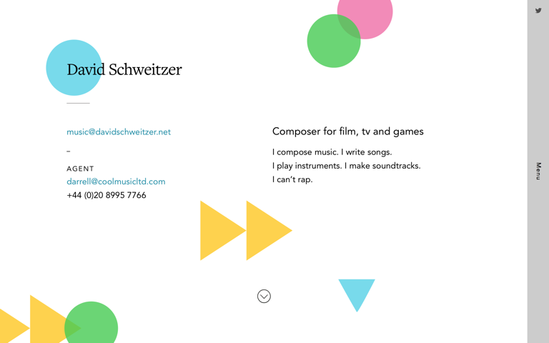 Screenshot of David Schweitzer