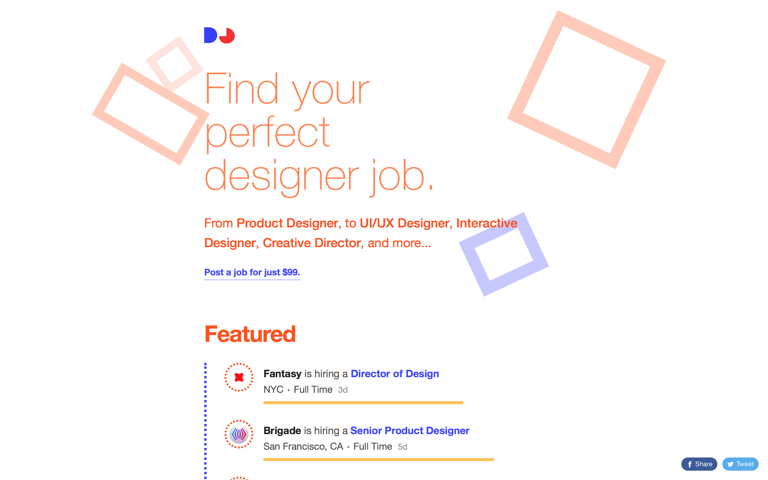 Screenshot of DesignerJobs