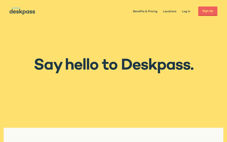 Screenshot of Deskpass