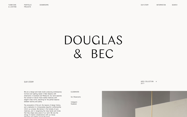 Screenshot of Douglas & Bec