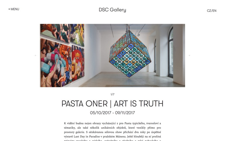 Screenshot of DSC Gallery