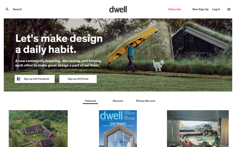 Screenshot of Dwell