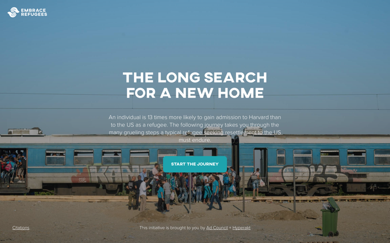Screenshot of Embrace Refugees: The Long Search For A New Home