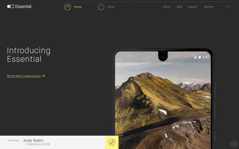 Screenshot of Essential