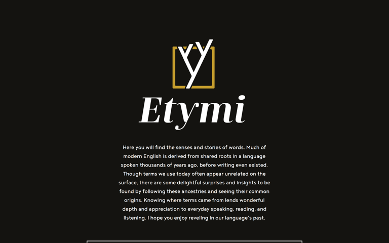 Screenshot of Etymi