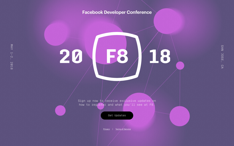 Screenshot of Facebook Developer Conference
