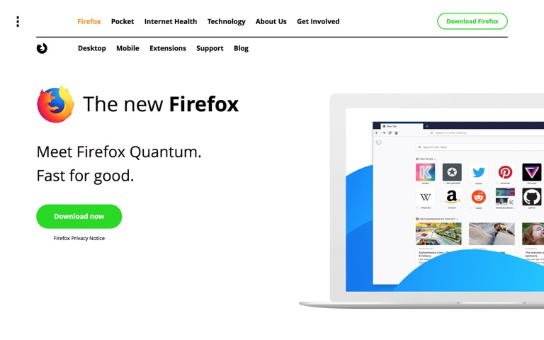 Screenshot of Firefox Quantum