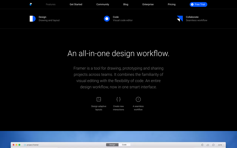 Screenshot of Framer