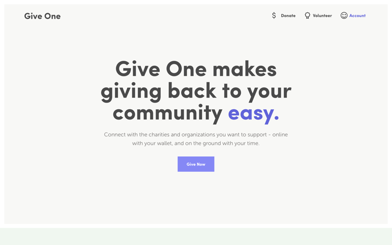 Screenshot of Give One