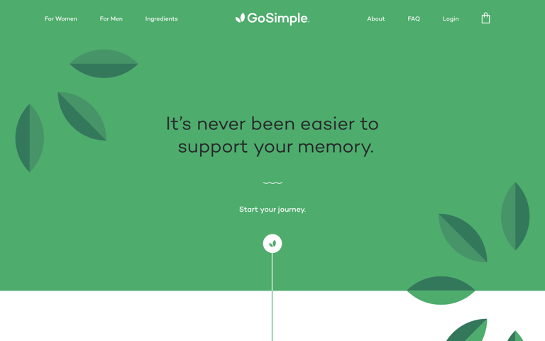 Screenshot of GoSimple