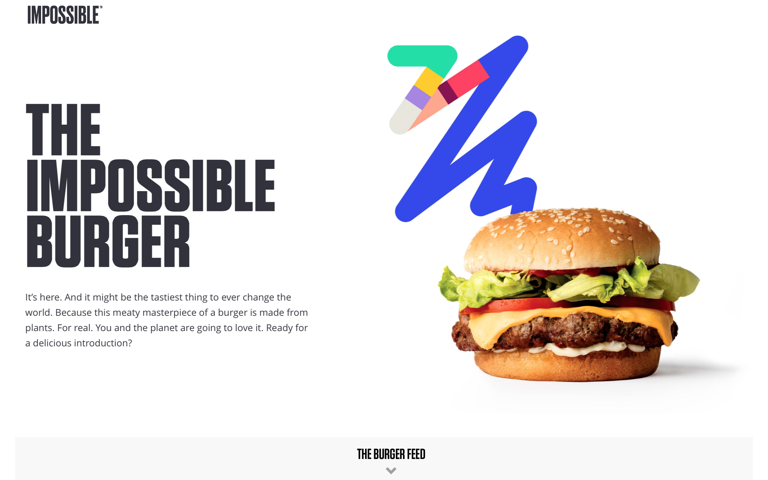 Screenshot of Impossible Foods
