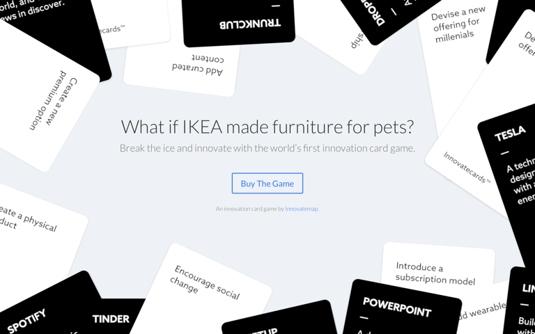 Screenshot of Innovatecards