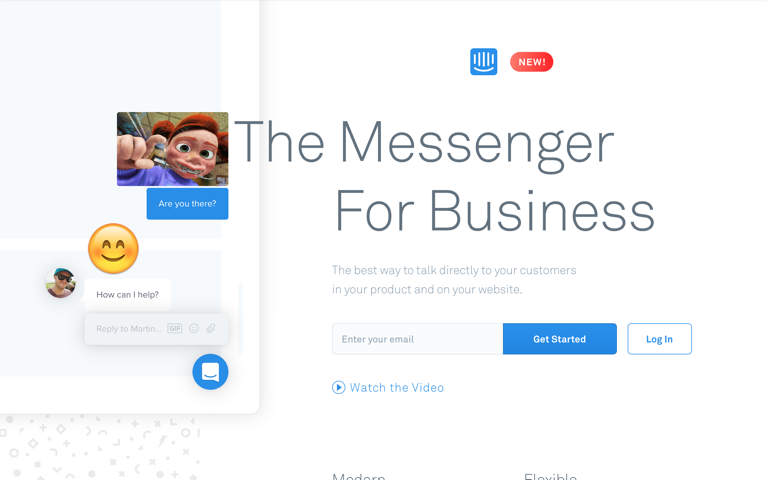 Screenshot of Intercom Messenger