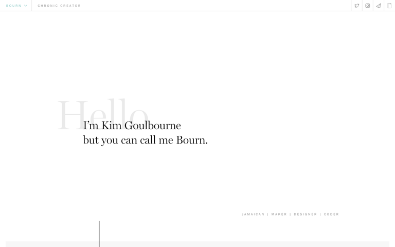 Screenshot of Kim Goulbourne