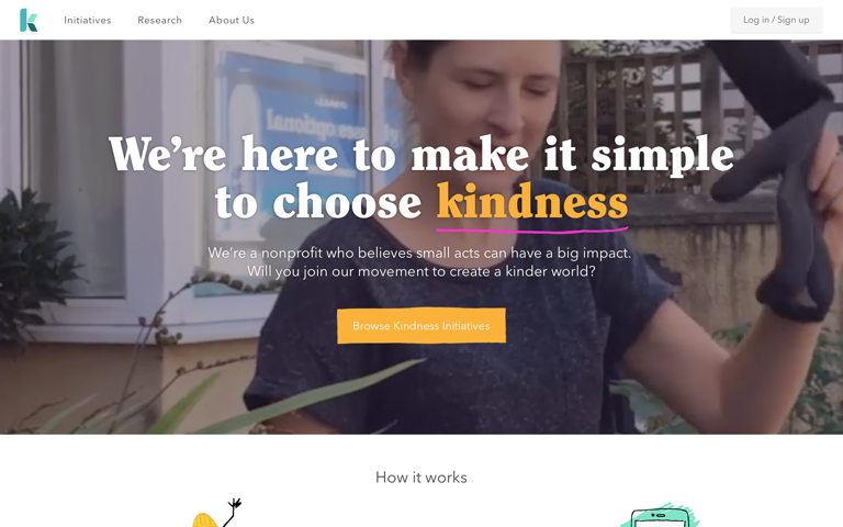 Screenshot of Kindness