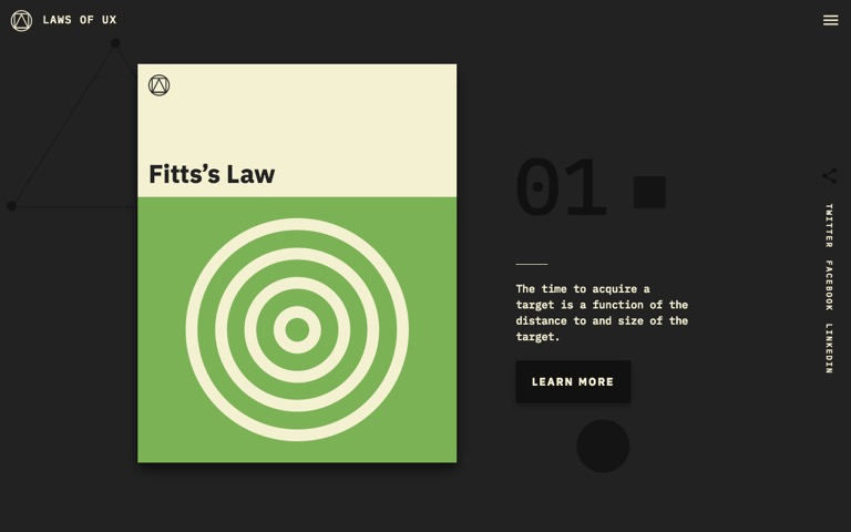 Screenshot of Laws of UX
