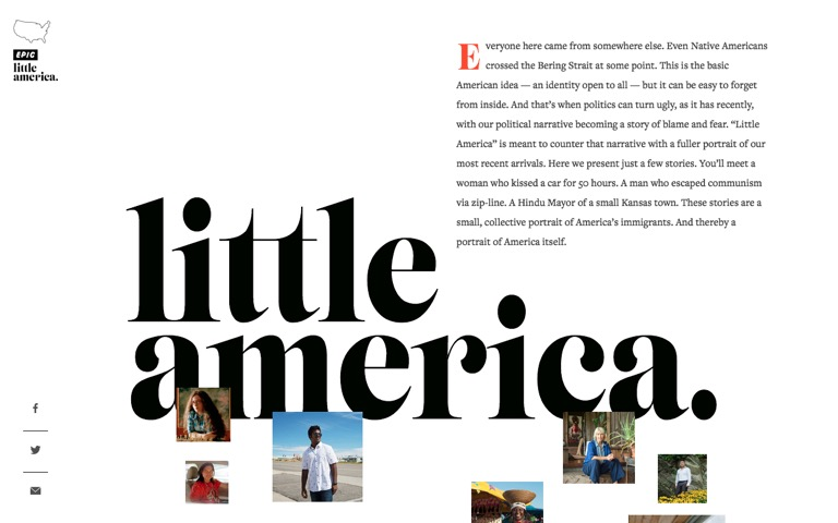 Screenshot of Epic Magazine: Little America