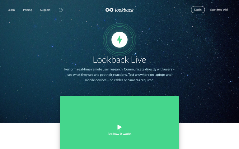 Screenshot of Lookback Live