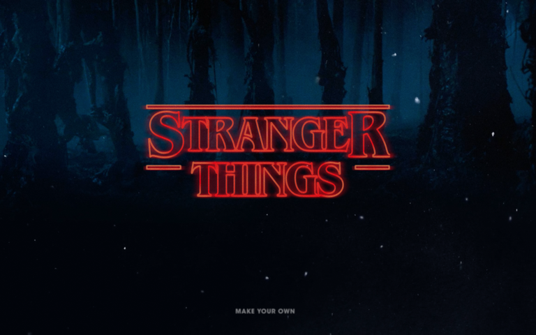 Screenshot of Stranger Things Type Generator