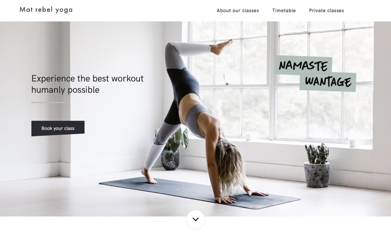 Screenshot of Mat Rebel Yoga