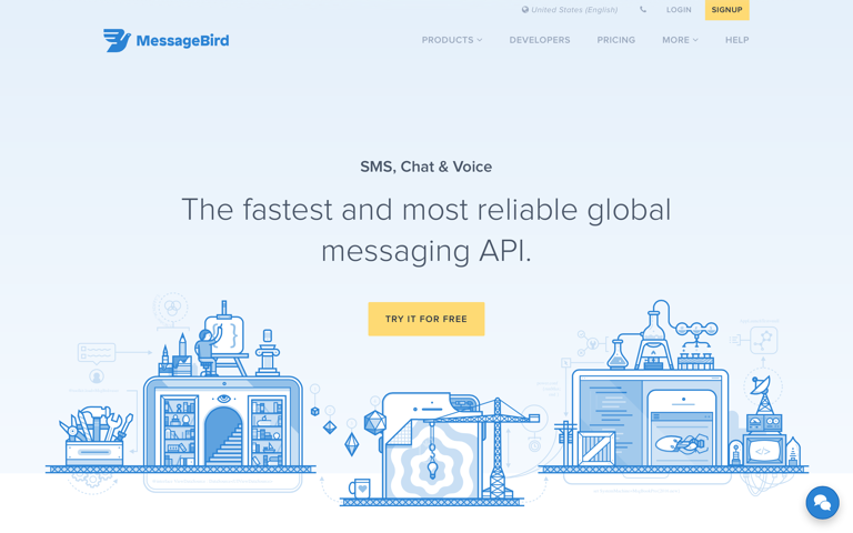 Screenshot of MessageBird