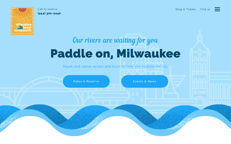 Screenshot of Milwaukee Kayak Co