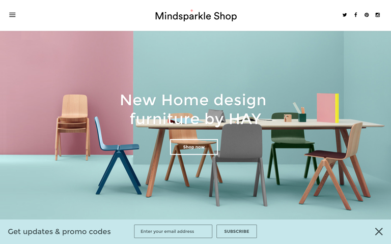 Screenshot of Mindsparkle Shop