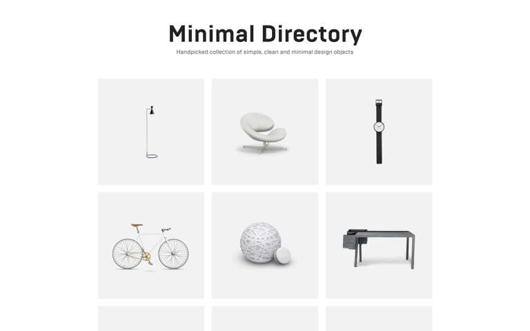 Screenshot of Minimal Directory