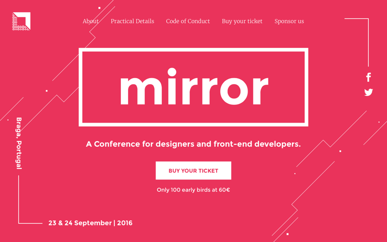 Screenshot of Mirror Conf