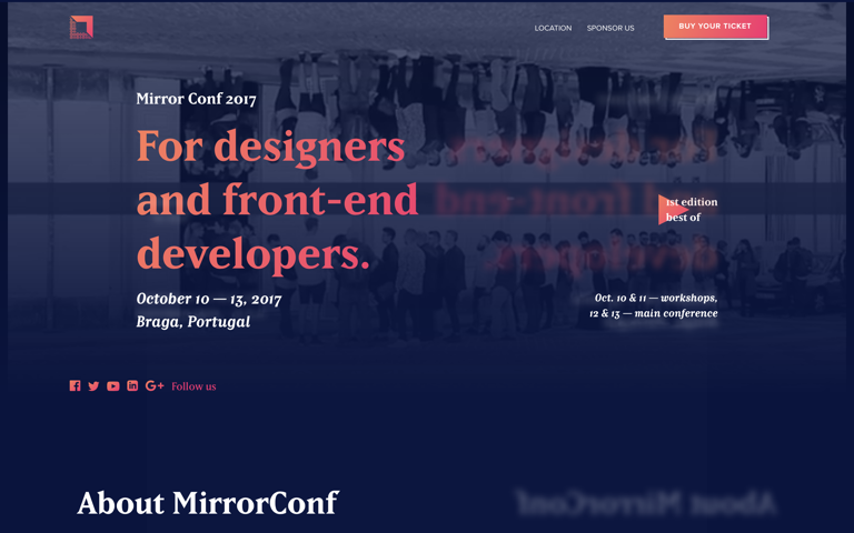 Screenshot of Mirror Conf 2017
