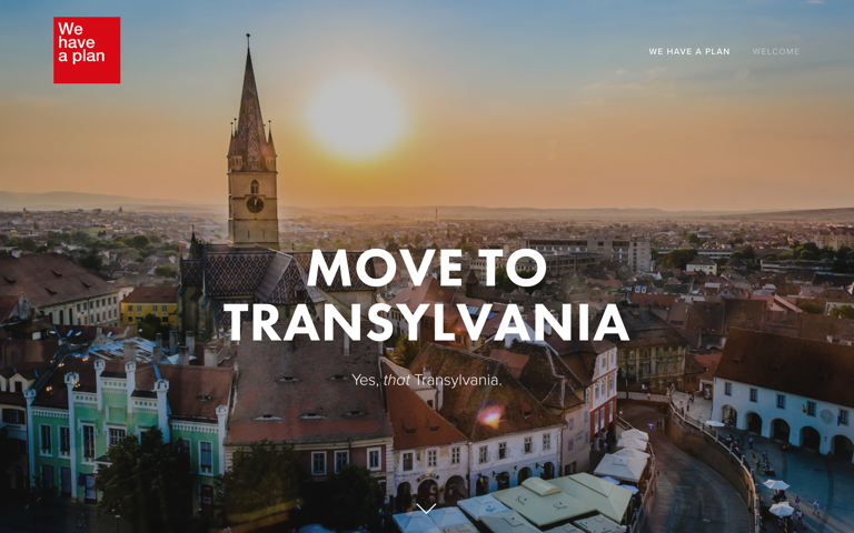 Screenshot of Move to Transylvania